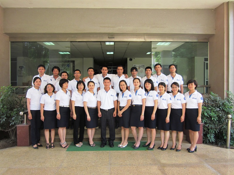 All staff of Bureau of Accreditation with the uniform of the World Accreditation Day 9.6.2011